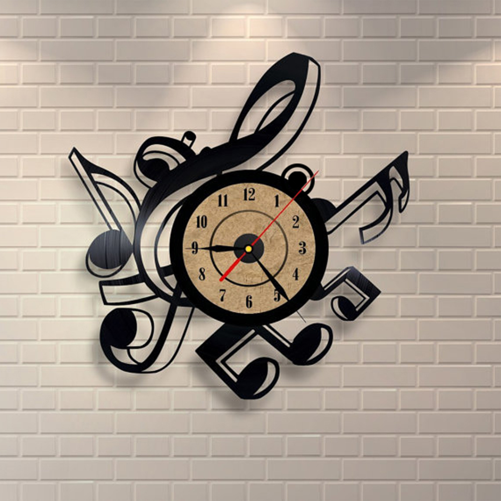 Vinyl wall clock musical themes vinyl wall clock musical themes amipublicfo Images